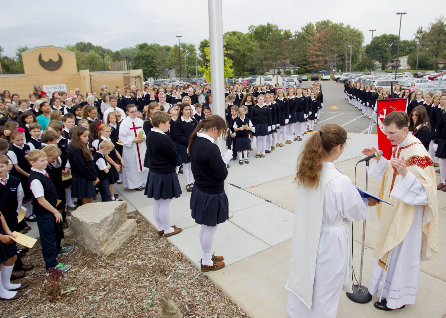 All School Mass & Flag Raising