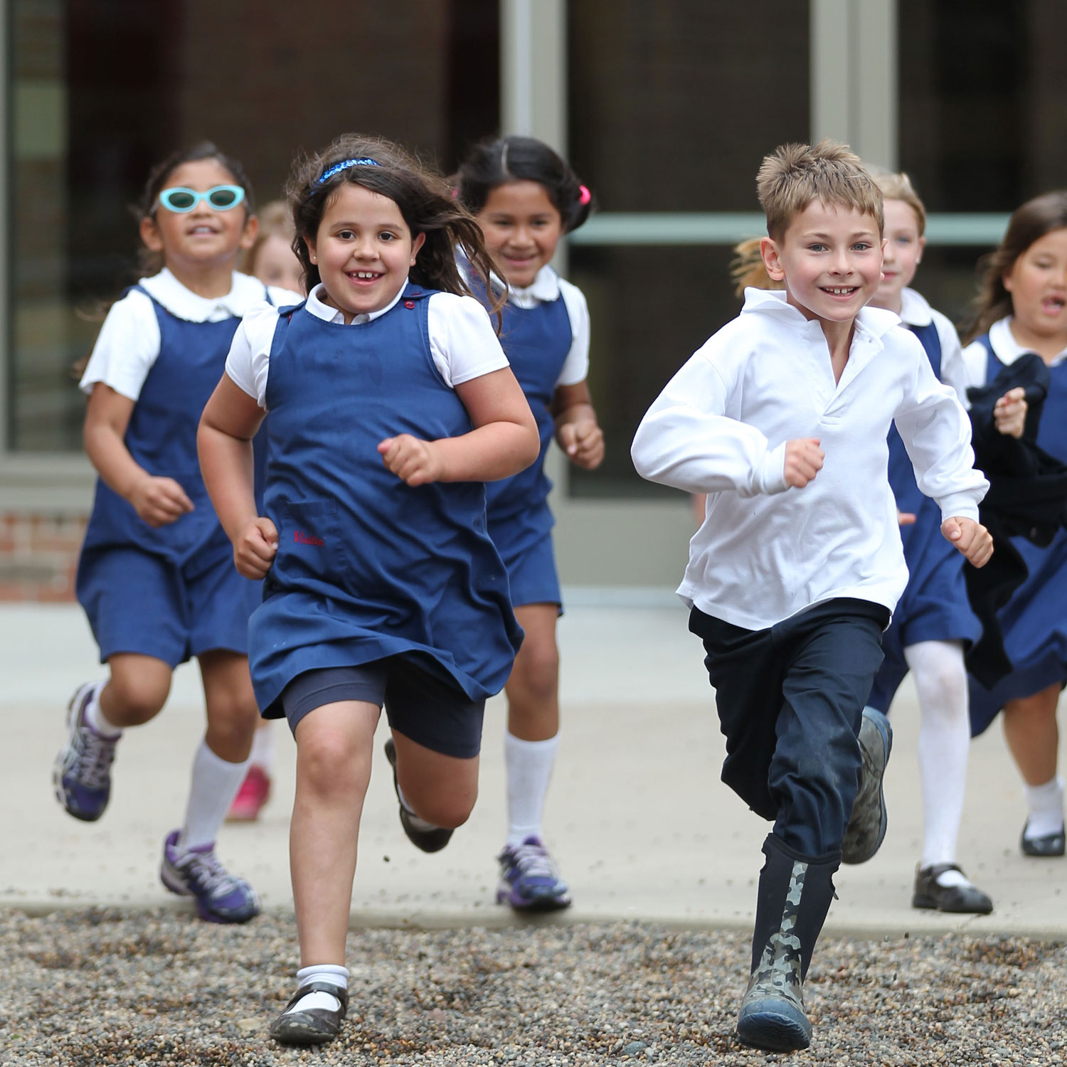 Lower School students running