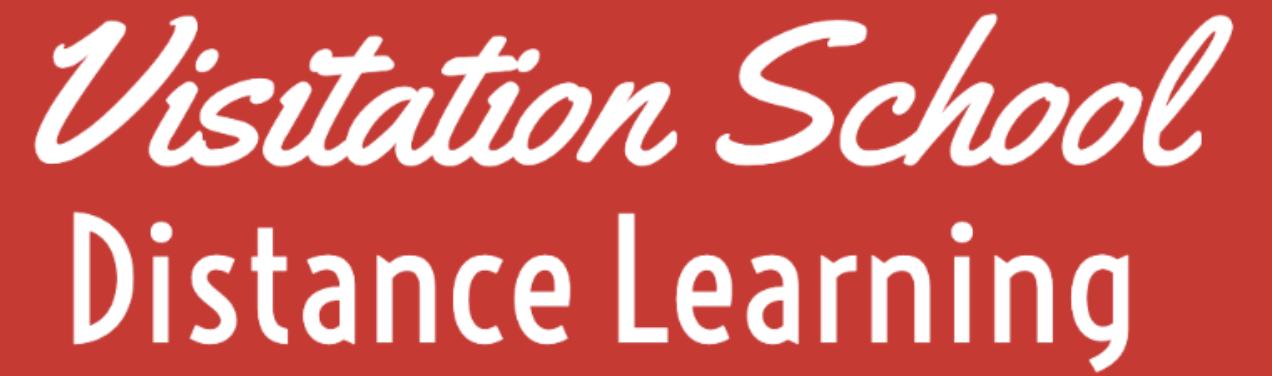 Visitation School Distance Learning Logo